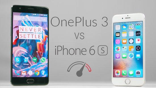 OnePlus 3 vs. iPhone 6s