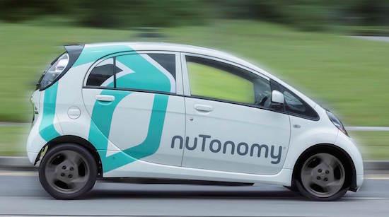 zelfrijdende taxi nutonomy