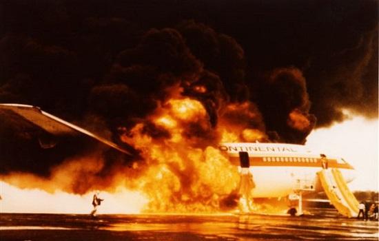 Vliegtuig brand