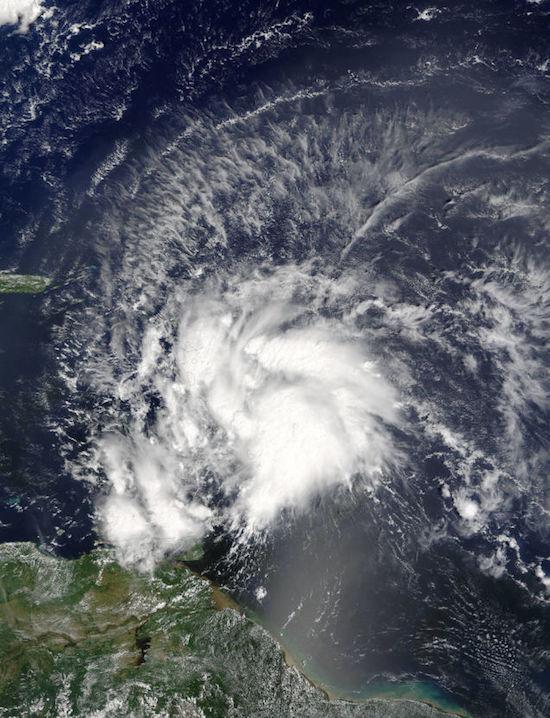 orkaan matthew vorming