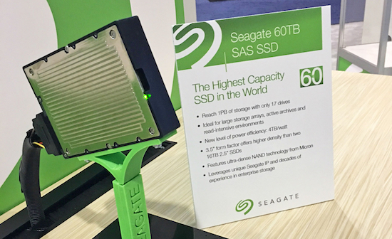 Seagate komt met 60 TB SSD