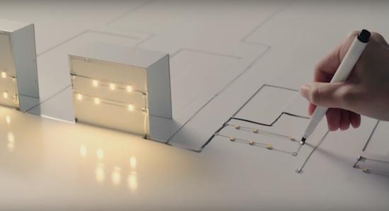 Video: elektronische pen creëert stad vol licht