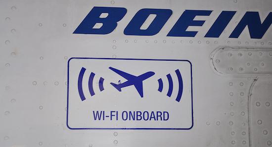 wifi vliegtuig
