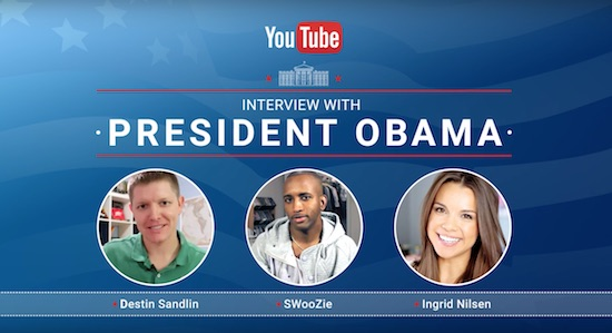 YouTube interview met Obama