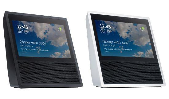 Amazon Echo in wit en zwart
