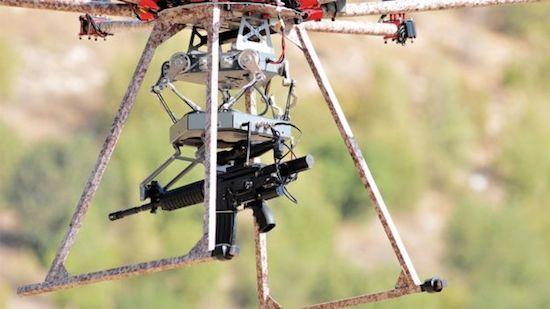 Drone met machinegeweer
