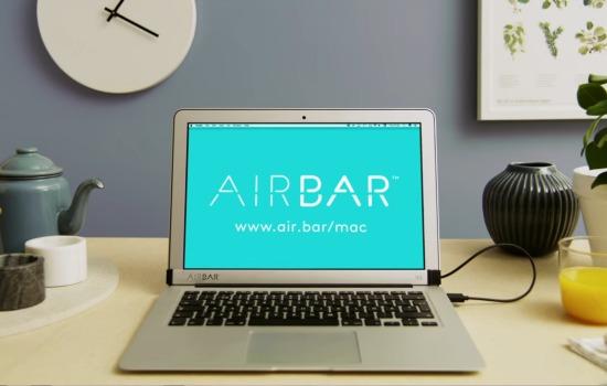 Deze balk zorgt voor touchscreen op Macbook Air