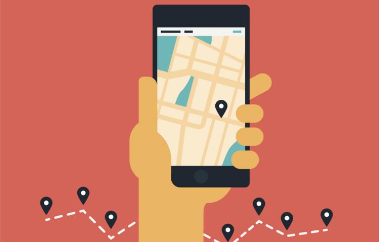 Android smartphone stuurt locatiedata