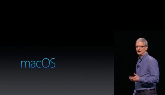 Tim Cook tijdens de WWDC
