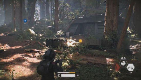 Als Stormtrooper moet je onder andere op Endor rebellen afslachten