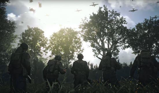 Amerikaanse soldaten op het West-Europese vasteland (bron: Activision)