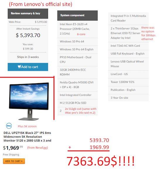 'iMac Pro is met een prijs van 5.000 dollar niet duur'