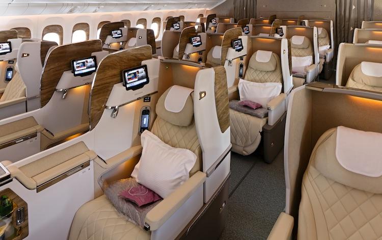Het interieur van deze Boeing 777 is geïnspireerd op de S-klasse