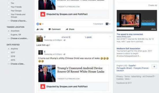Facebook markeert gefactcheckte berichten (NU.nl)