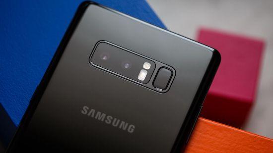 De dubbele camera van de Samsung Galaxy Note 8