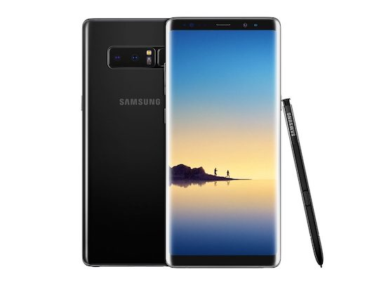 Samsung Galaxy Note 8 bovenaan in cameratest
