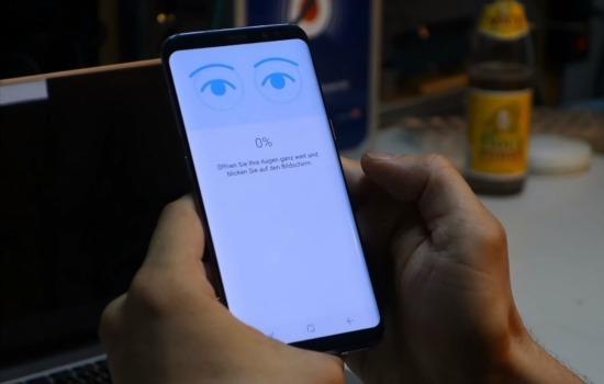 Galaxy S8 irisscanner