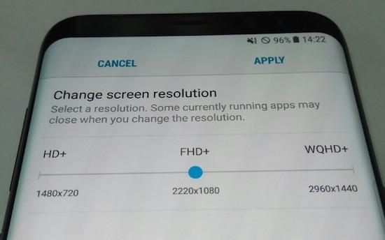 Gelekt: instelbare resolutie van de Galaxy S8