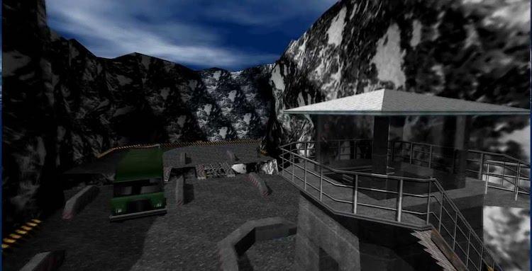 Het GoldenEye 007-level op de Dam