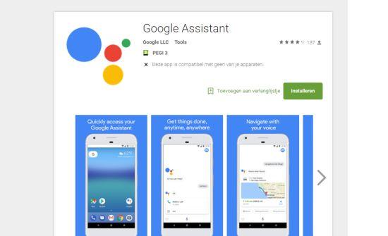 De in Android-geïntegreerde functie komt als aparte app uit?