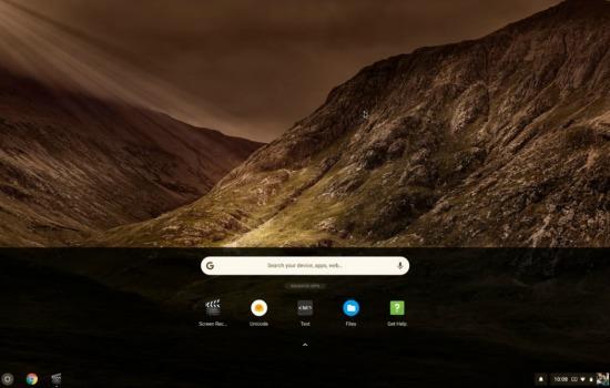 Chrome OS touchscreen