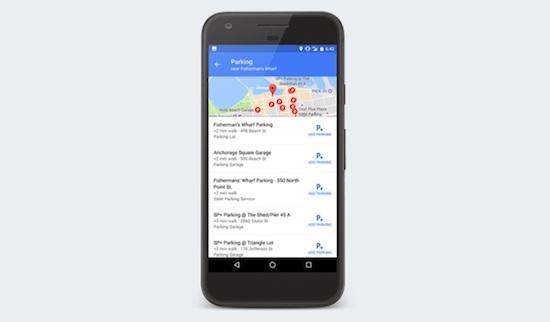 Parkeren met Google Maps