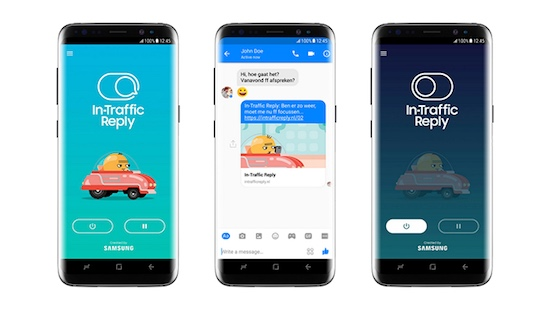 Afleiding in verkeer verleden tijd voor Samsung-smartphones