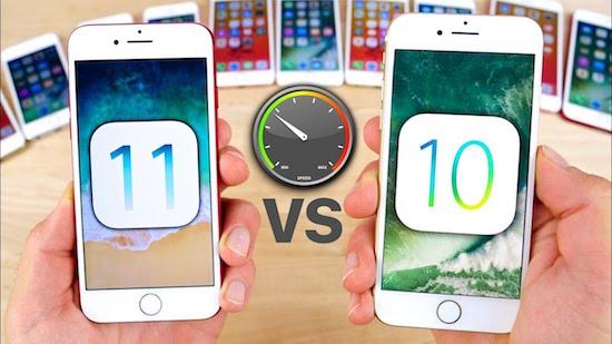 iOS 11 vs. 10.3.3
