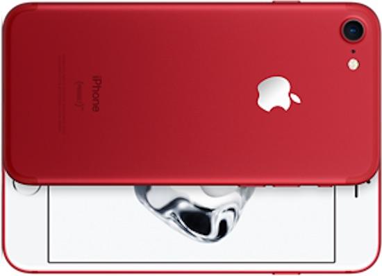 Nieuw: de iPhone 7 in het rood