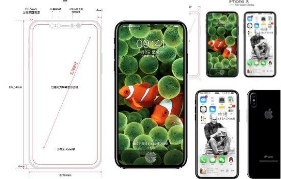 Zou de iPhone 8 er echt zo uit zien?