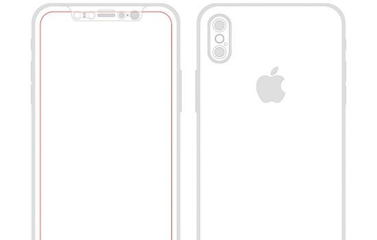 Een schets van de nieuwe smartphone van Apple