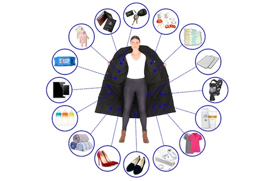 Met deze jas neem je 15 kg extra bagage aan boord!