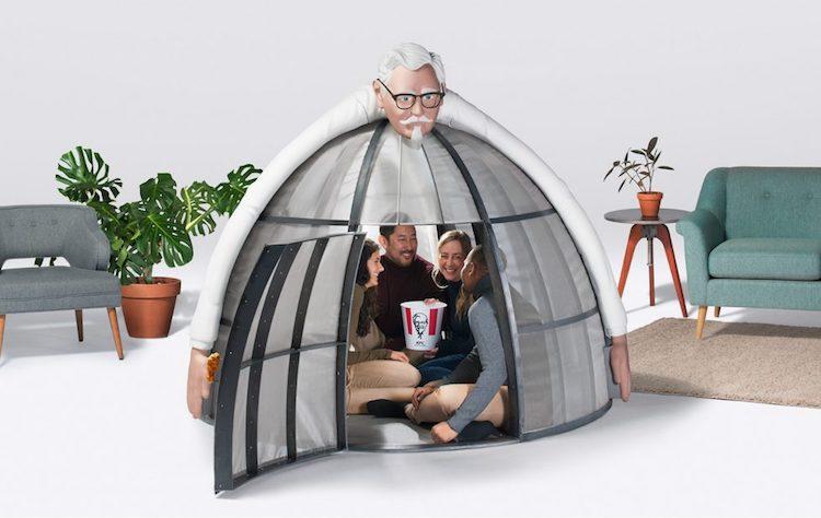 Deze KFC-tent sluit je volledig af van het internet