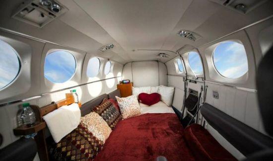 Zo ziet een love-lounge in de lucht er dan uit