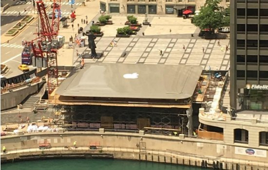 Humor: Apple Store in Chicago heeft Macbook dak