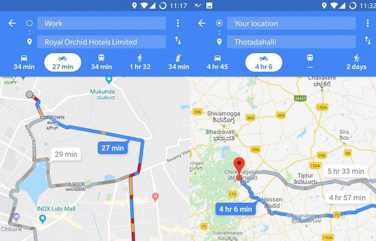 Google Maps: auto verslaan met tweewieler doe je zo
