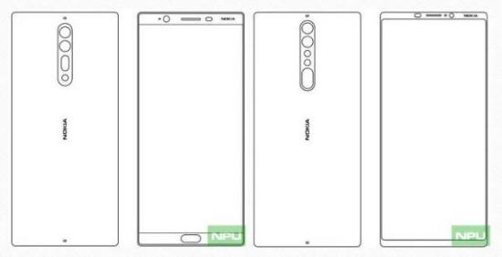 Nokia vlaggenschepen schets