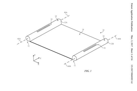 Nieuw Apple-patent toont oprolbare hardware