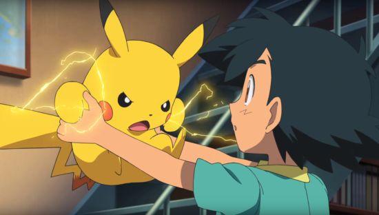 Ash' eerste ontmoeting met Pickachu was redelijk pijnlijk