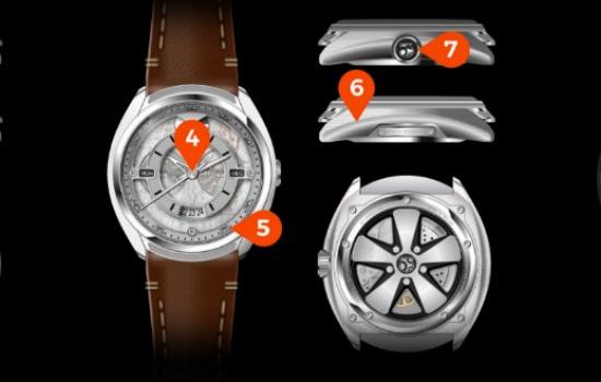 Deze horloges zijn gemaakt van een Porsche 911