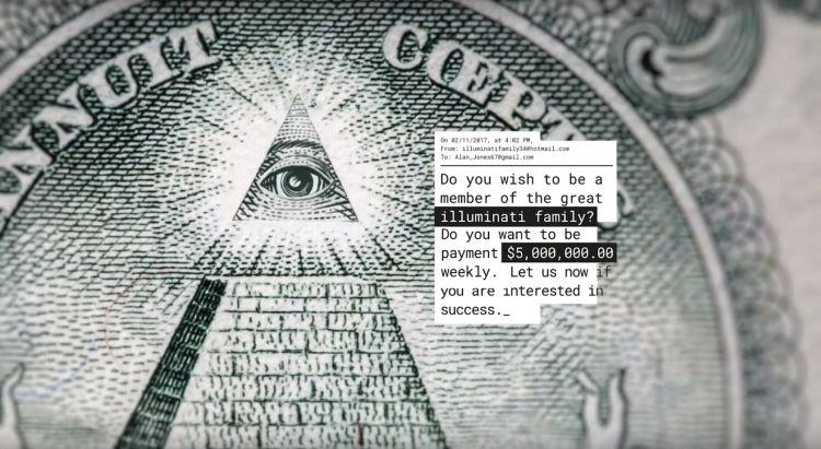 De chatbot houdt eikels van de illuminati langdurig aan het lijntje