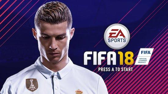 Ronaldo op de cover van FIFA 18
