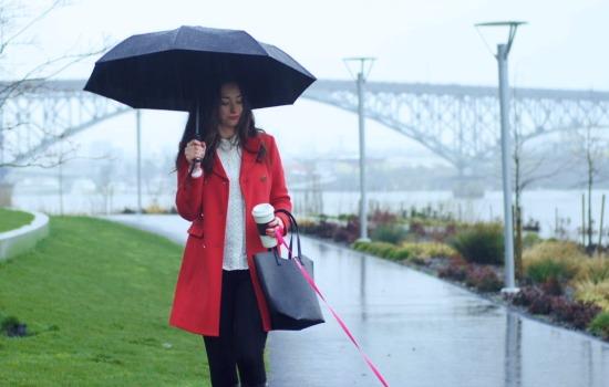 Dit is een automatische paraplu