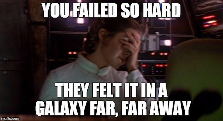 Leia is ook teleurgesteld