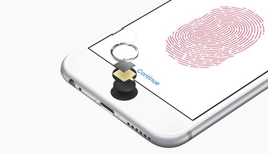 Vingerafdrukscanner in scherm bij toekomstige iPhone