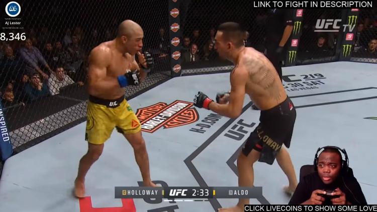 Gamer streamt UFC match als game
