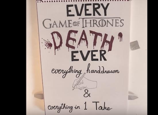 Video: artiest maakt eerbetoon aan alle dode GoT-karakters