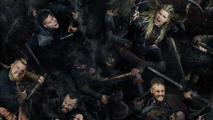 Vikings zijn lekker aan het knokken