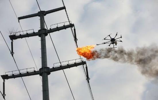 Vuurspuwende drone