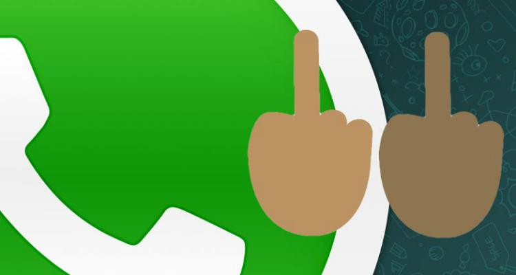 WhatsApp middelvinger